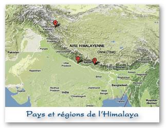 Les pays de l'Himalaya